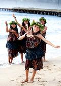 Pretty Polynesian Girls — Stock Photo