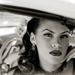 Pretty Vintage Woman — Stock Photo