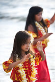 Pretty young Hula girls — Stock Photo