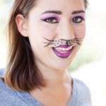 Cat Makeup — Stock Photo