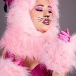 kedi kostümü seksi kadın — Stok fotoğraf