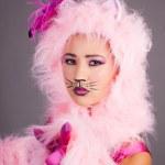 mujer bonita en traje de gato — Foto de Stock