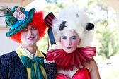 Couple as Clowns — Stock Photo