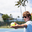 Royalty-Free Stock Photo: Tennis in the Tropics