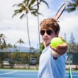 Tennis in Paradise — Stock Photo