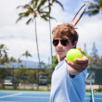 Tennis in Paradise — Stock Photo