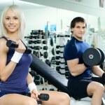 coppia di sport — Foto Stock