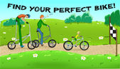 Find your perfect bike! — Vector de stock