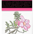 Vector card with tropical flower — Stockvektor