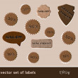 Royalty-Free Stock Vector Image: Wooden sale tags