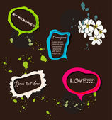 Set of bright speech bubbles — Vettoriale Stock