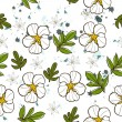 Seamless texture with white flower. - ベクター素材ストック
