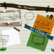 Scrapbook details set. - Stockvectorbeeld