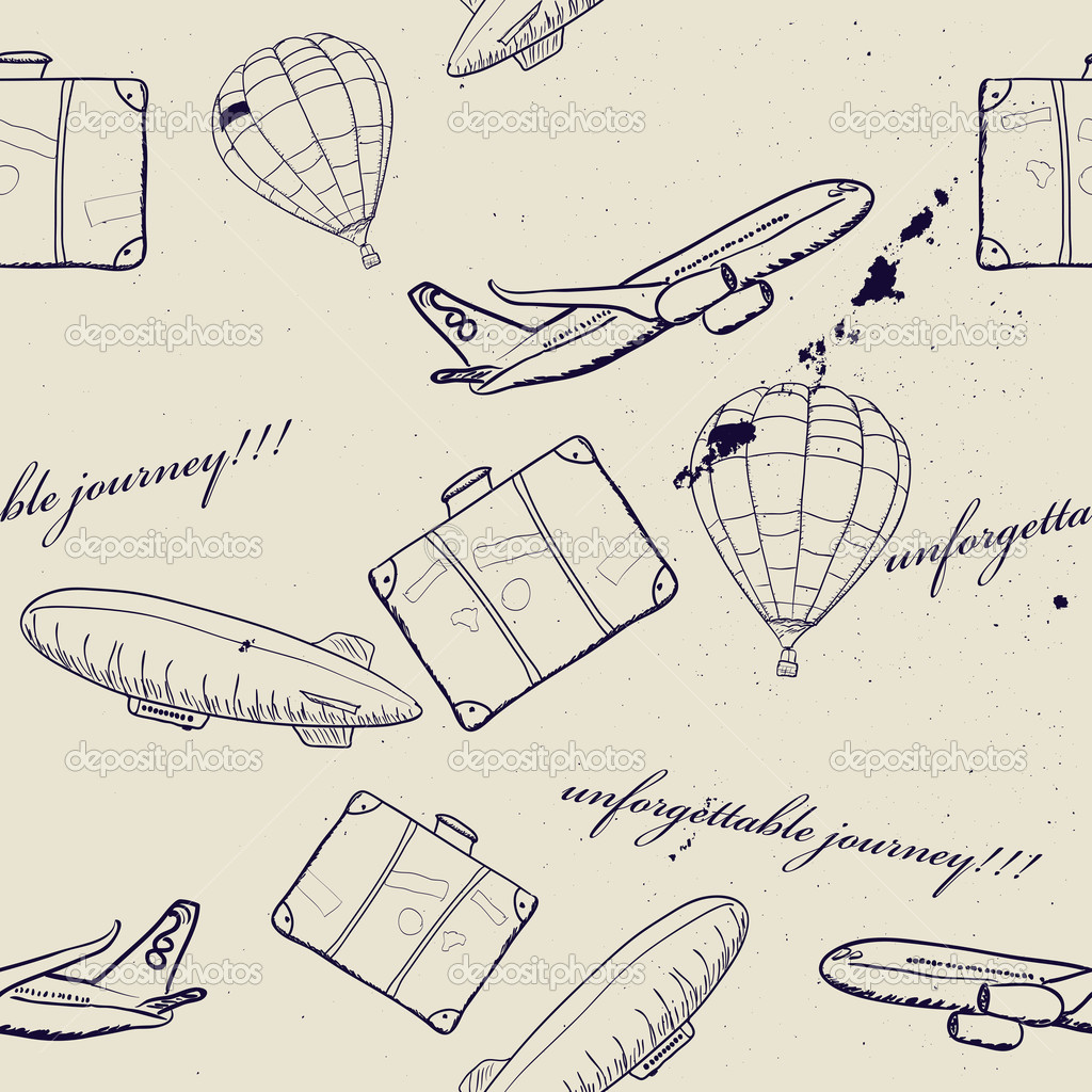 飞行汽车旅途无缝模式.矢量图 eps8 — 矢量图片作者 yunna