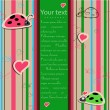Background with ladybirds in love. - Imagen vectorial