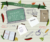 Back to school scrapbooking poster2. — Cтоковый вектор