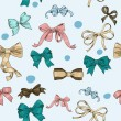 图库矢量图片: Semless texture with vintage bows