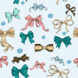 Stockvektor : Semless texture with vintage bows