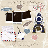Set di elementi scrapbook. — Vettoriale Stock