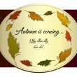Vintage autumn label with cane. — Vettoriali Stock