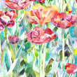 Royalty-Free Stock Photo: Original watercolor painting of summer, spring flower