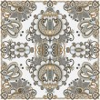 Traditional Ornamental Floral Paisley Bandana - Stock Vector