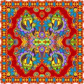 Traditional Ornamental Floral Paisley Bandana — Stock Vector