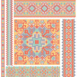 Handmade cross-stitch ethnic Ukraine pattern design — Stock Vector #10766328