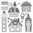 Decorative house drawing set — Stock Vector #10766358