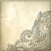 Ornamental floral pattern in grunge background — Stock Vector