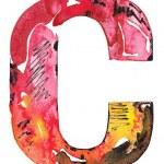 Handmade watercolor alphabet design — Stock Photo