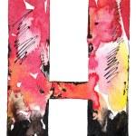 Handmade watercolor alphabet design — Stock Photo #11396783
