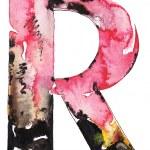 Handmade watercolor alphabet design — Stock Photo #11397312