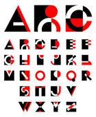 Oorspronkelijke geometrische alfabet — Stockvector