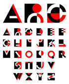Original geometric alphabet — Stockvector