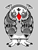 Animal fantasy personage, owl — Stock Vector