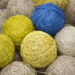 Royalty-Free Stock Photo: Balls of yarn from natural fibers of hemp