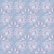 Floral background blue — Stock Vector