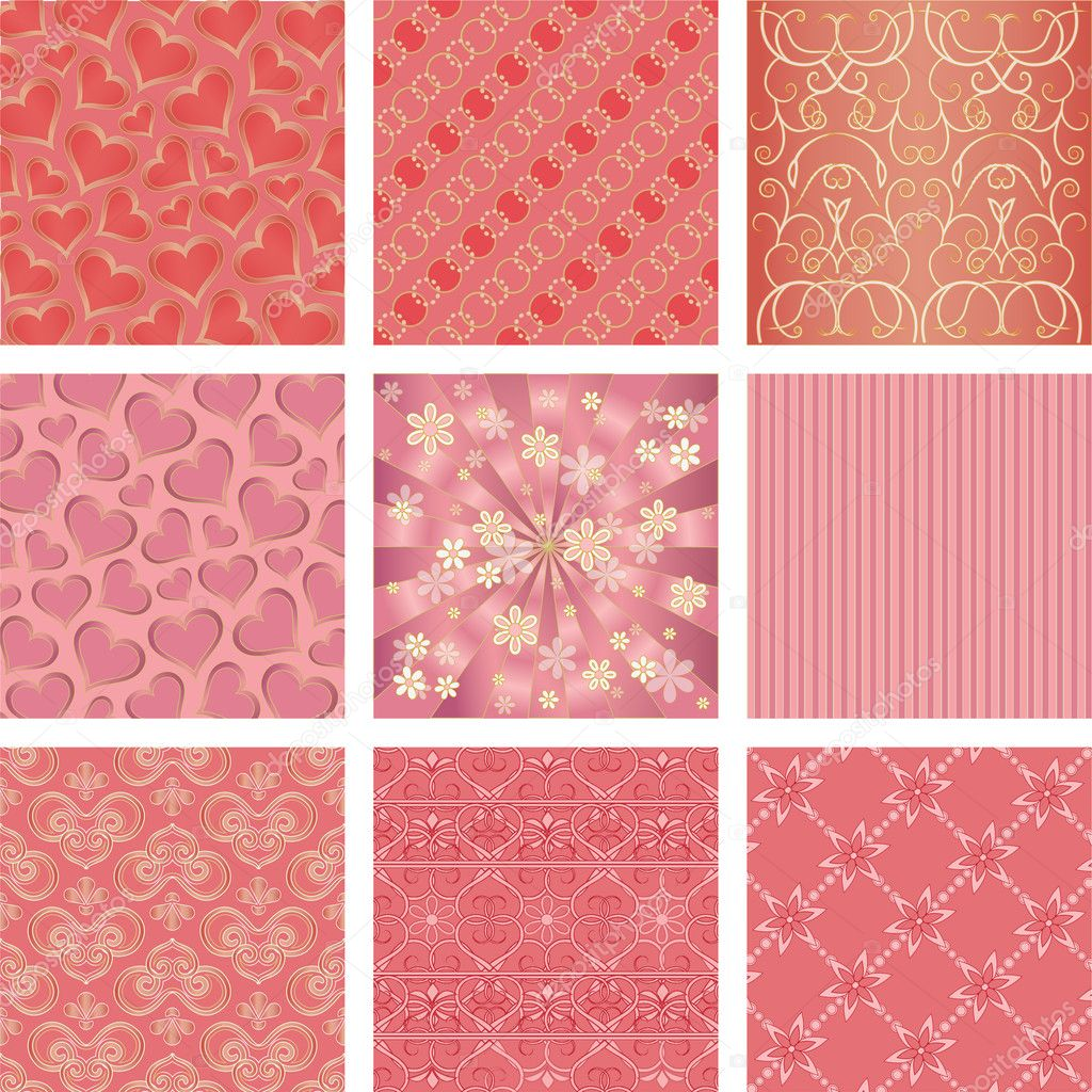 Seamless background Collection, vector Illustration  Stock Vector #11641000