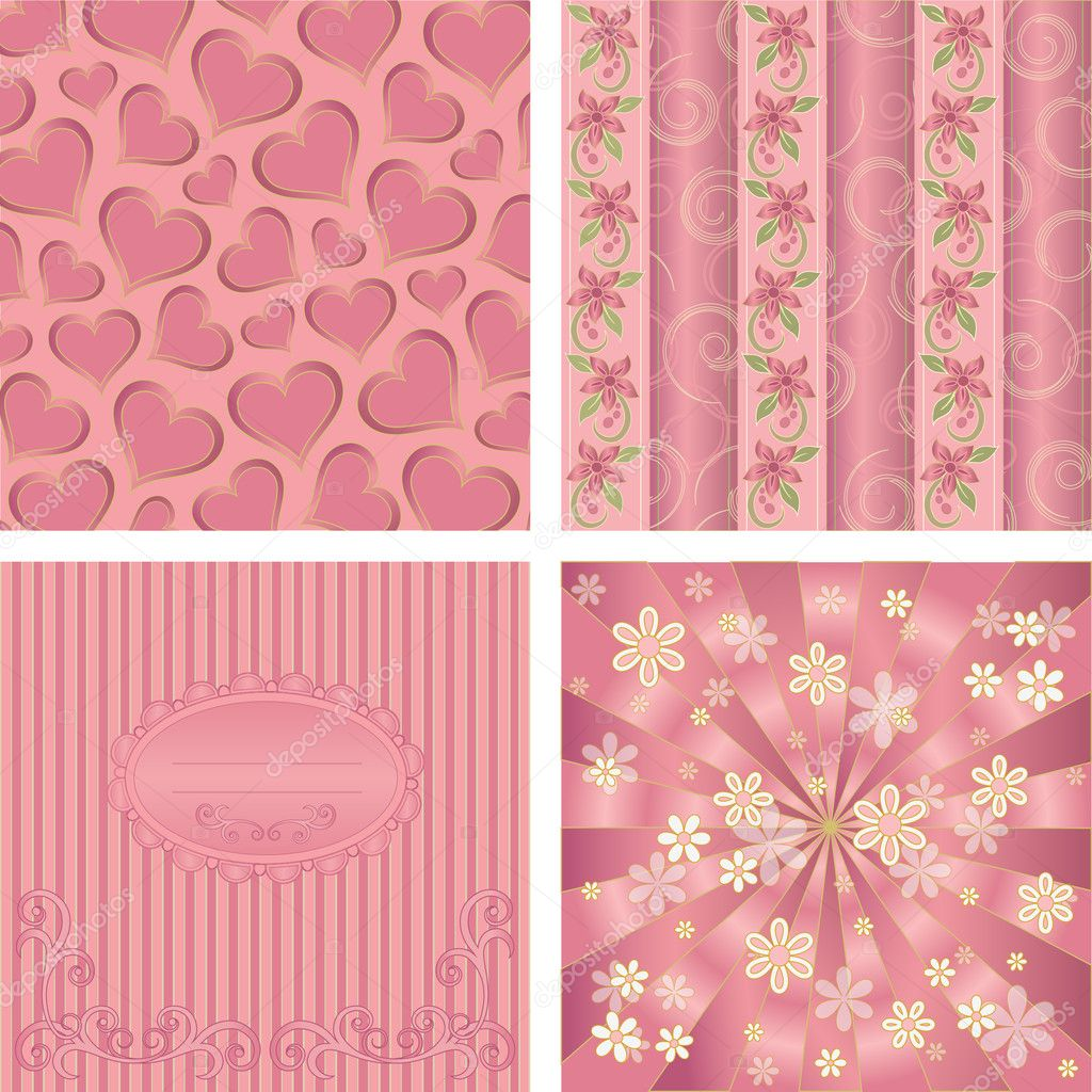 Seamless background Collection, vector Illustration — Stock Vector #11671756