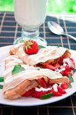 Kahvaltı için lezzetli aromalı kek — Stok fotoğraf