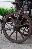 Old wheel cart — Foto de Stock