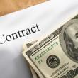 Stock Photo: Contract conception with money