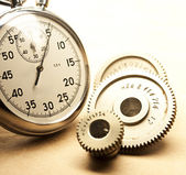 Mechanical ratchets and stopwatch — Stock Photo