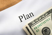 Plan conception with money — Stock Photo