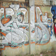 Art of graffiti on the street wall — Stock Photo #11566776