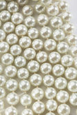 String of white pearls — Stock Photo