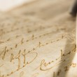 Old book with feather pen — Stock Photo