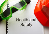 Register with goggles and helmet — Stock Photo