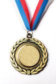 Medalla del metal con la cinta tricolor — Foto de Stock